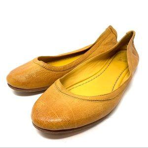 Frye Carson flat mustard marigold  size 9 C15